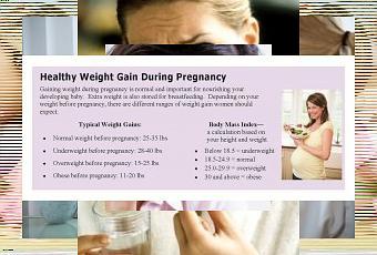 Pregnancy Healthy Weight Gain