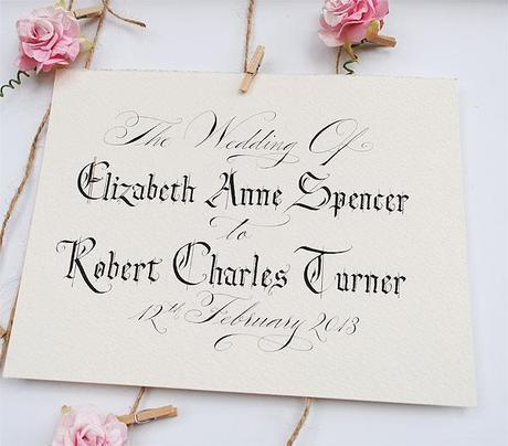 Personalised wedding sign