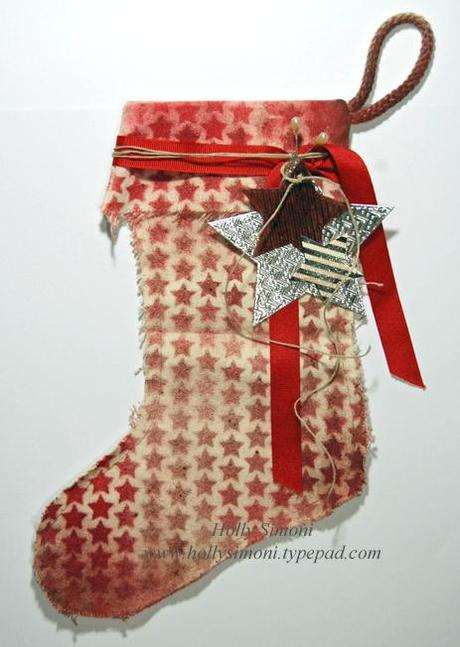 HS Canvas Corp Tattered Angels xmas stocking