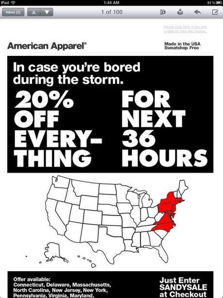 Was Fashion Insensitive During Hurricane Sandy?