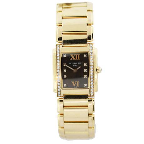 Patek Philippe 24 I8K Rose Gold Ladies Watch