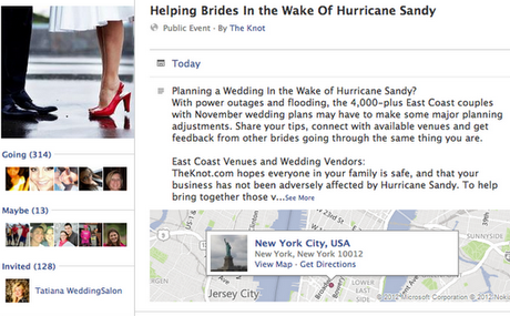 Friday Potpourri: Brides Affected by Hurricane Sandy