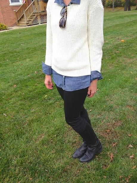 outfit: layers, pleather & over the knee socks