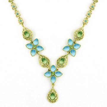 44334Steal of the Day: Peridot Floral Necklace