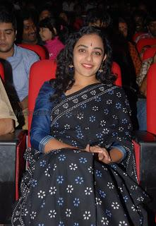 Nithya Menon - Black Saree