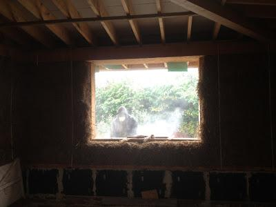 Transformation - Lime on strawbale