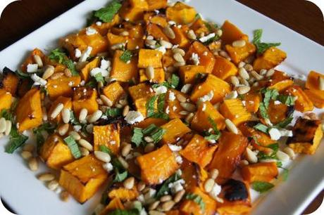 Joanna's Table Goat Cheese, Baby Spinach and Roasted Pumpkin Salad Recipe for NGNO