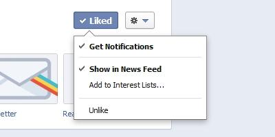 New notification system Facebook pages