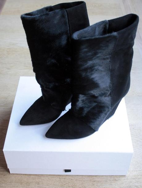 The Lazio boots - Isabel Marant fur & suede wedge boots
