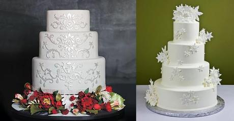 Snowy White Winter Wedding Cake Ideas