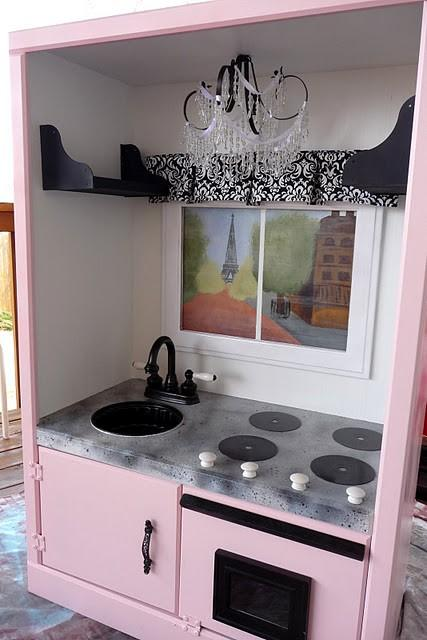 pink kitchen armoire 5 Family Friendly Ways to Re Purpose an Armoire