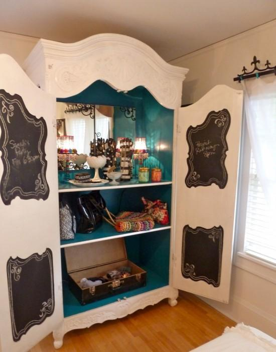 jewelry accessories armoire 550x700 5 Family Friendly Ways to Re Purpose an Armoire