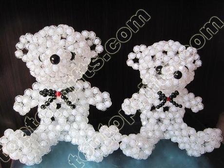 How to make a 3 D beaded Teddy bear?