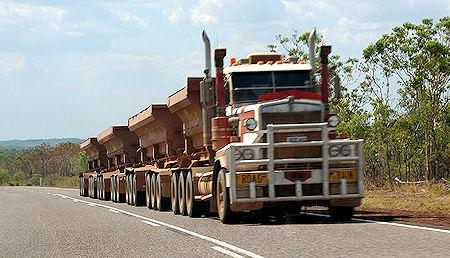 Huge Off-Highway Road Trains