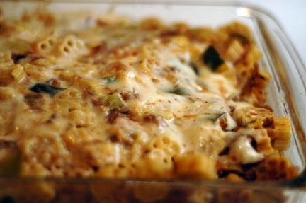 Easy Weeknight Baked Pasta with Meat and Veggies