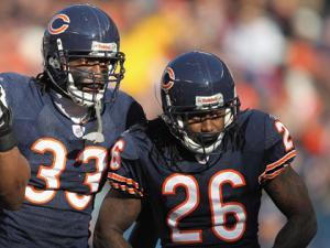 Charles Tillman and Tim Jennings. (Photo by Jonathan Daniel/Getty Images)