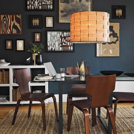 decor small room color8 Dark Colors in Small Spaces HomeSpirations