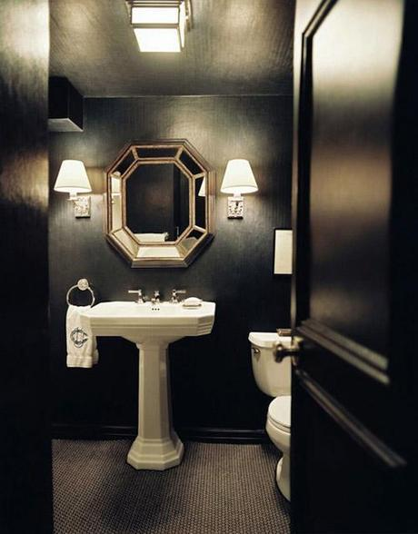 decor small room color14 Dark Colors in Small Spaces HomeSpirations