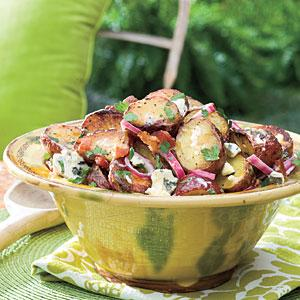Big Daddy's Grilled Blue Cheese-and-Bacon Potato Salad Recipe