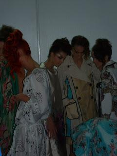 Backstage at RadaStyle show