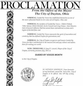 Are you celebrating Guided by Voices month in Dayton?