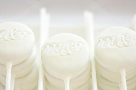 White Monogram Lollipops