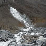 Waterfall Along Mineral creek trail Valdez Alaska