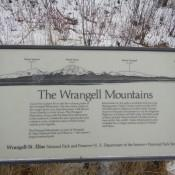 Info Sign on Wrangell Mountains