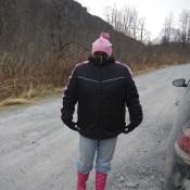 Lauren ready for a hike in Valdez AK