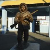 Statue in Downtown Anchorage AK