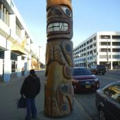 Totem Pole in downtown Anchorage AK
