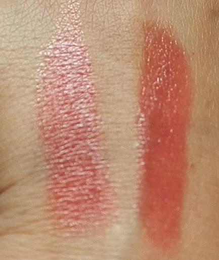 Swatches: Lipstick : Loreal Paris Rouge Caresse 401 Rebel Red Swatches