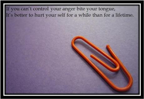 A thoughts about ANGER