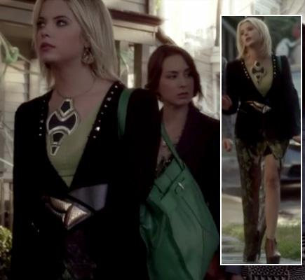 pll pretty little liars hannas necklace green bag how to celebrity fashion blog covet her closet sale promo code