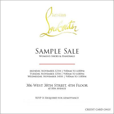how to get christian louboutin sample sale invitation