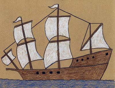 How To Draw the Mayflower