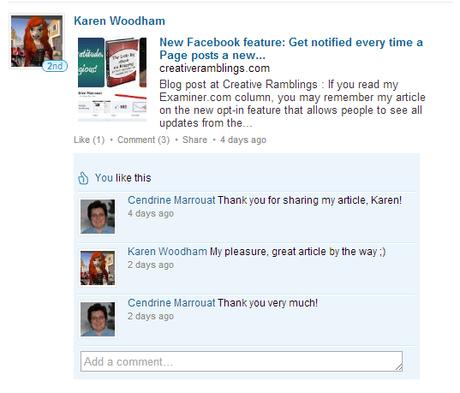 Monitoring LinkedIn