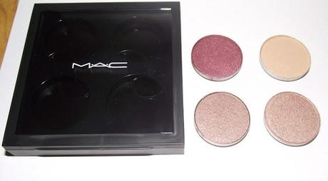 my first mac eyeshadows and brush