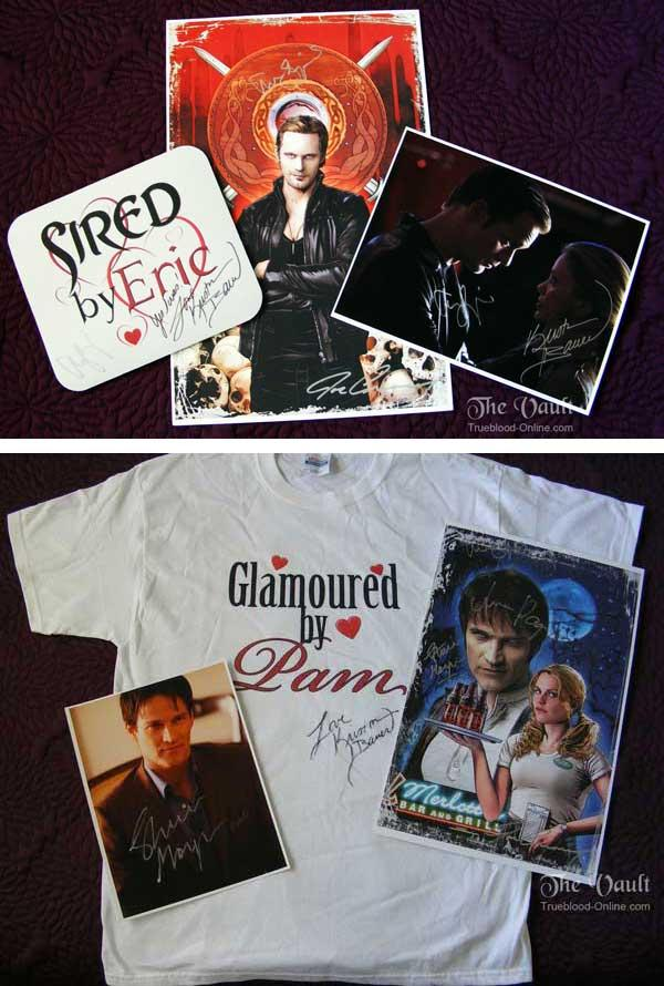 Auction of True Blood Pack signed by Anna Paquin, Stephen Moyer, Alexander Skarsgard and Kristin Bauer in support of the Amanda Foundation