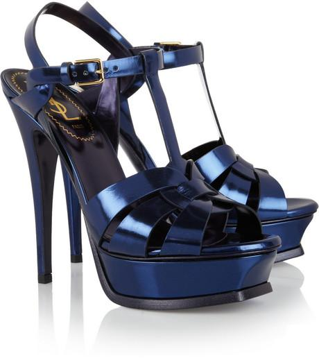a5e8335a58 YSL Tribute Mirrored Leather Sandals Are Iconic Shoes for Women ...