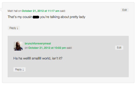 Oops: When People Find Out I Blogged About Them