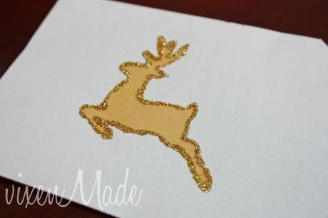 Glitter Reindeer Wall Art