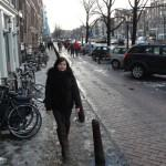 Annie in the streets of Amsterdam