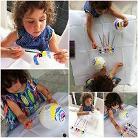 Painting Paper Lanterns