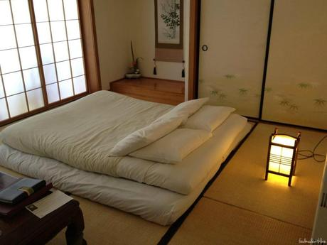 traditional looking japanese room with futons