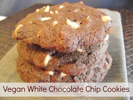 Vegan White Chocolate Chip Cookies 650x487 Vegan White Chocolate Chip Cookies