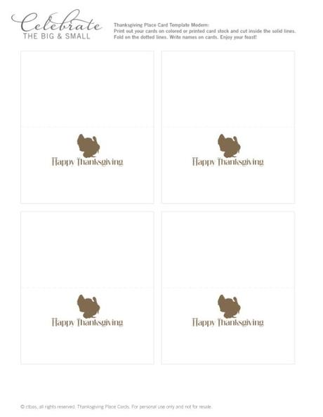 All About the Packaging: Thanksgiving Place Cards