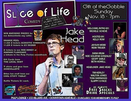 Slice of Life Comedy presents comedian Jake Head Sunday