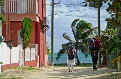 Backpackers in Caye Caulker Belize