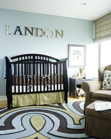 decor boys nursery Surprise: Its a Boy, not a Girl! Re decorating the Nursery HomeSpirations